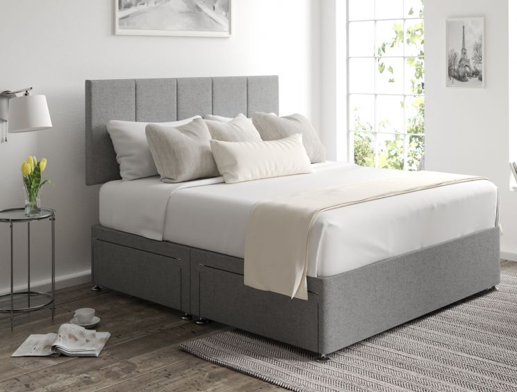 Hannah Classic 4 Drw Arran Pebble Headboard and Base Only