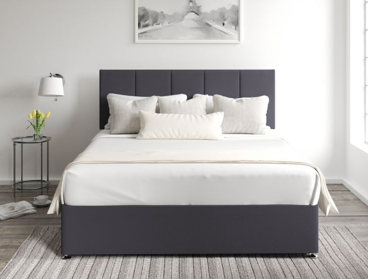 Hannah Classic 4 Drw Gatsby Gun Metal Headboard and Base Only