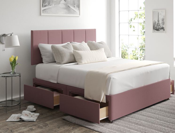 Hannah Classic 4 Drw Gatsby Rose Headboard and Base Only