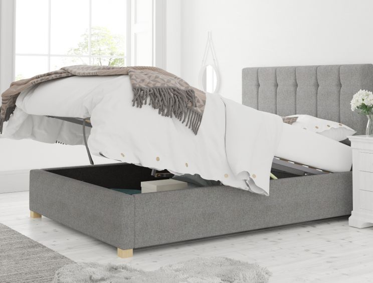Hemsley Ottoman Eire Linen Grey Bed Frame Only
