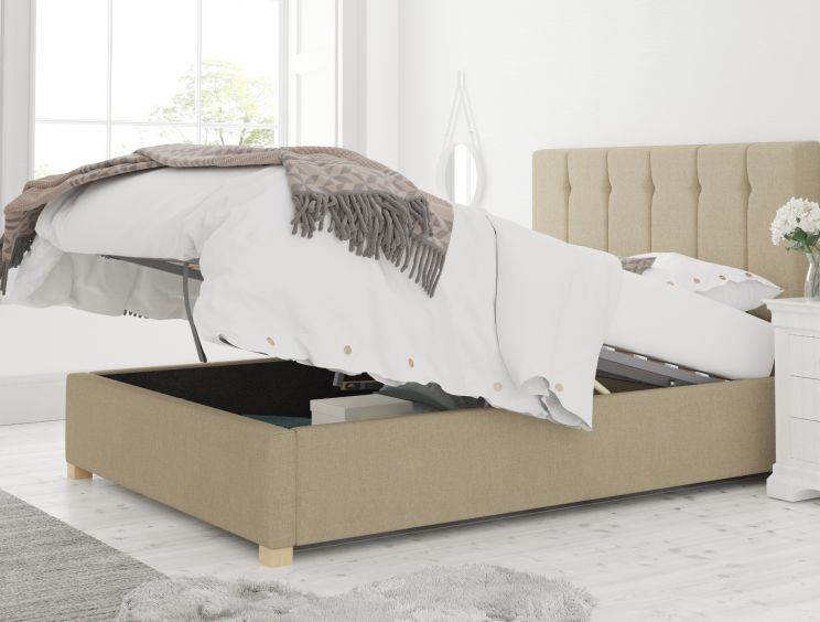 Hemsley Ottoman Eire Linen Natural Bed Frame Only