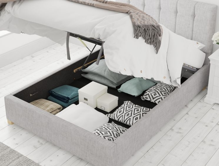 Hemsley Ottoman Pastel Cotton Storm Bed Frame Only