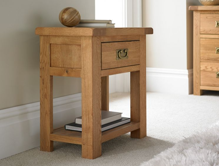 Heritage Oak 1 Drawer Night Stand