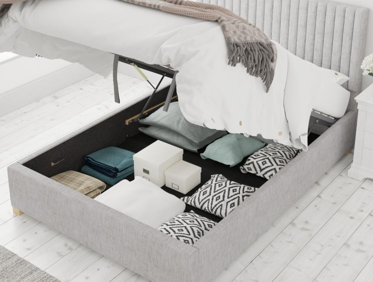 Levisham Ottoman Pastel Cotton Storm Bed Frame Only