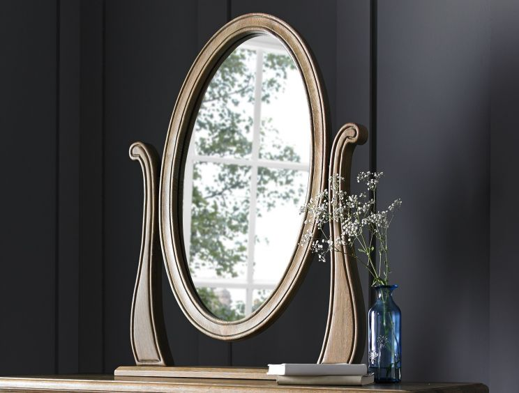 Loire Weathered Oak Dressing Table Mirror