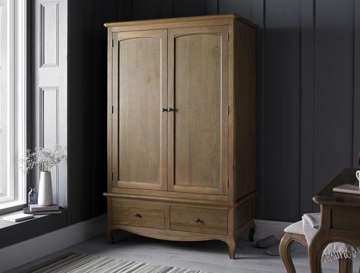 Loire Weathered Oak Wardrobe Time4sleep, Weathered Oak Bedroom Furniture
