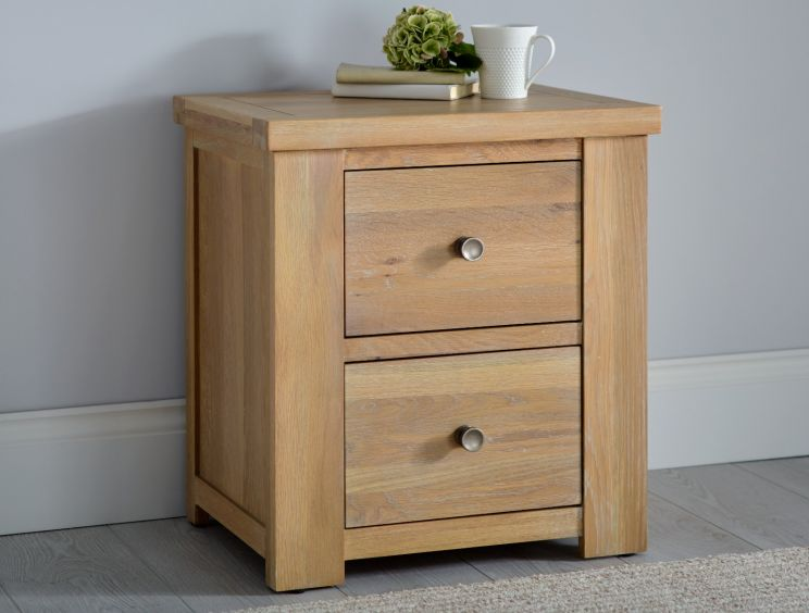 Maine Oak 2 Drawer Bedside