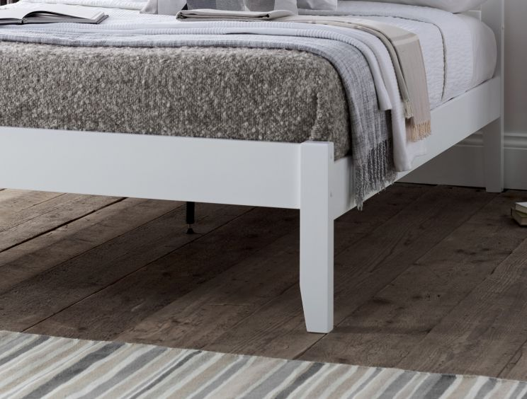 Malmo White Wooden Bed Frame
