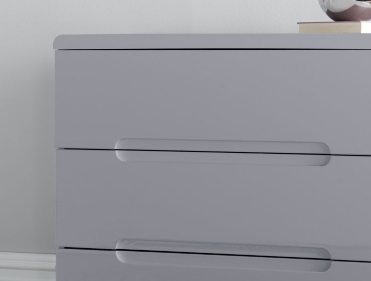 Manilla Grey 3 Drawer Chest