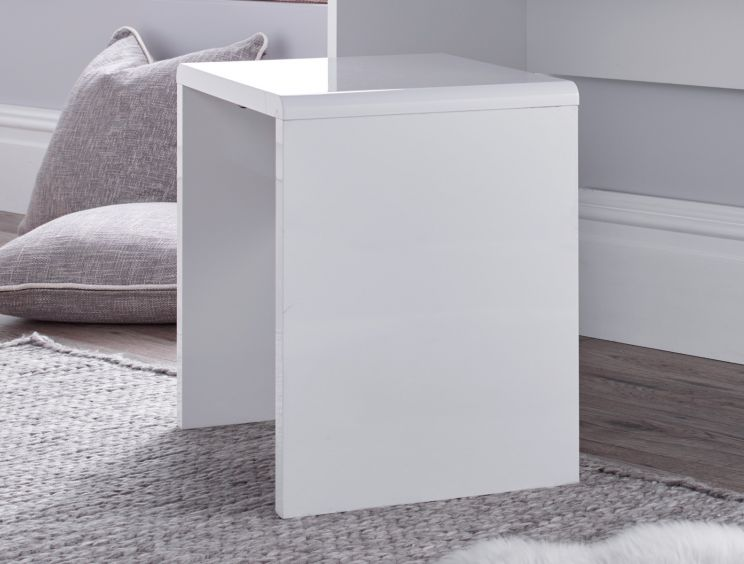 Manilla White Dressing Stool