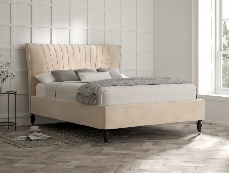 Melbury Savannah Almond Upholstered Bed Frame Only
