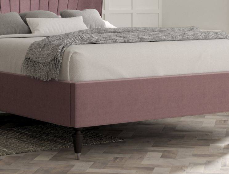 Melbury Velvet Lilac Upholstered Bed Frame Only