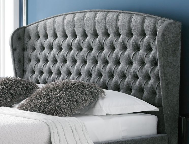 Mia Winged Upholstered Bed Frame