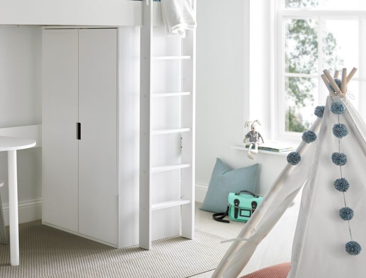 Modena White 2 Door Compact Wardrobe