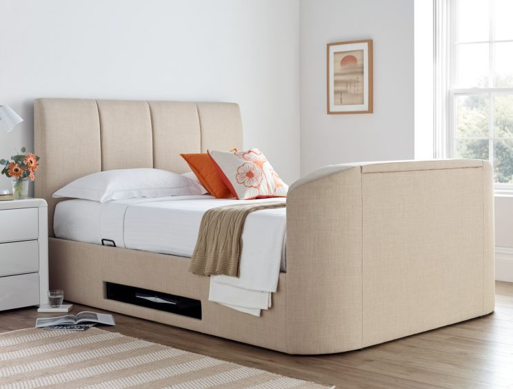 Copenhagen Upholstered Ottoman TV Bed - Natural