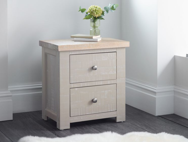 New Hampshire Grey 2 Drawer Bedside