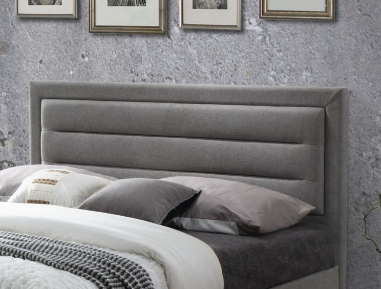 Oslo 2 Upholstered Bed - Grey
