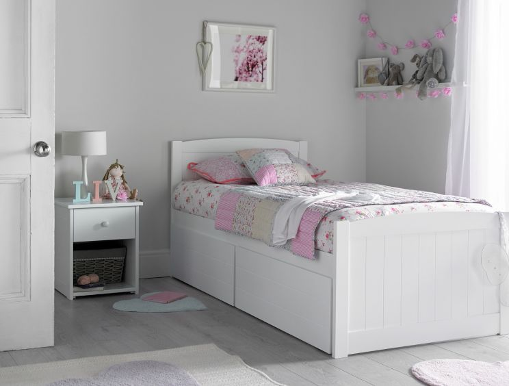 Portland Solo White Bed Frame