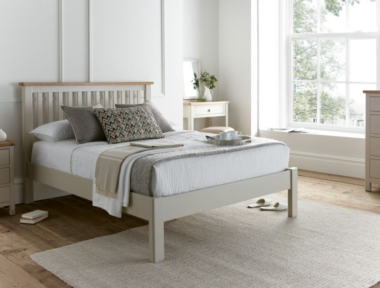 Radstock Truffle Wooden Bed Frame