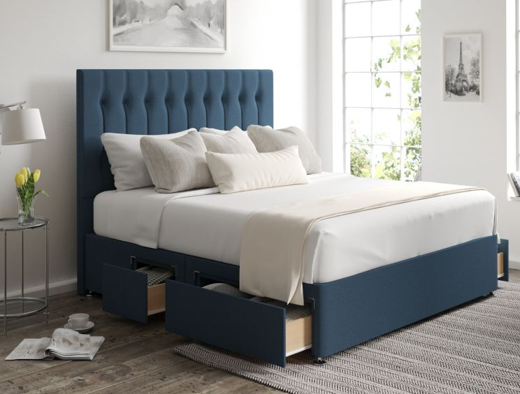 Rylee Classic 4 Drw Continental Arran Cyan Headboard and Base Only