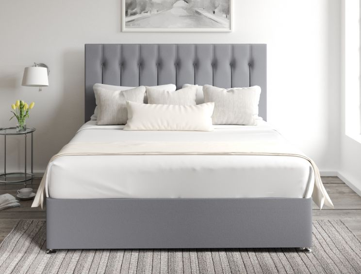 Rylee Classic 4 Drw Continental Gatsby Platinum Headboard and Base Only