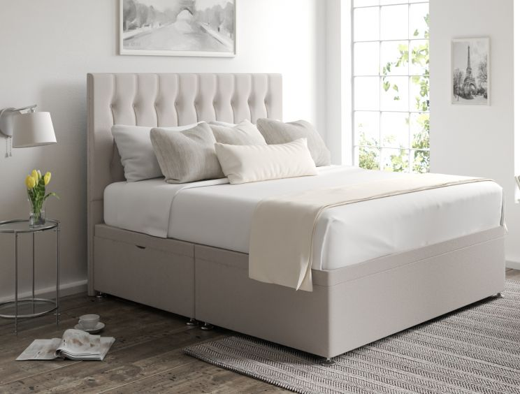 Rylee Ottoman Arran Natural Headboard and Base Only