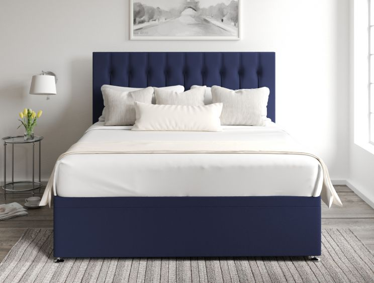Rylee Ottoman Gatsby Indigo Headboard and Base Only