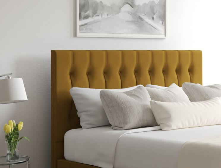 Rylee Ottoman Gatsby Ochre Headboard and Base Only