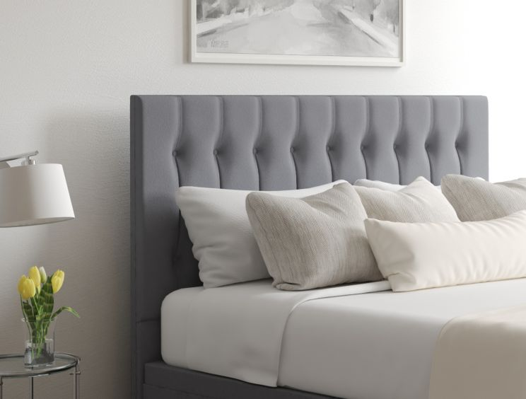 Rylee Ottoman Gatsby Platinum Headboard and Base Only