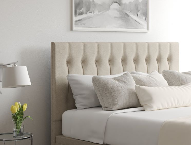 Rylee Classic 4 Drw Continental Trebla Stone Headboard and Base Only