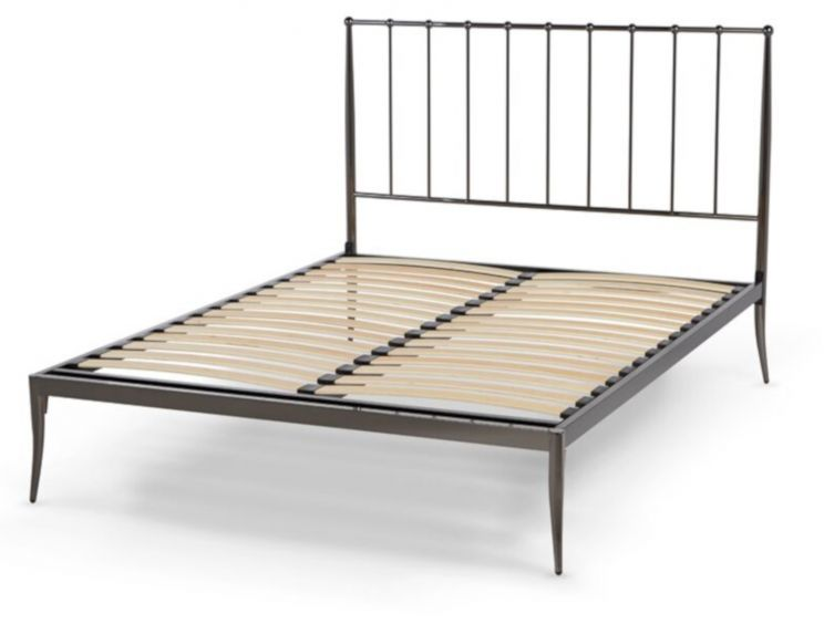 Celine Black Nickel Bed Frame