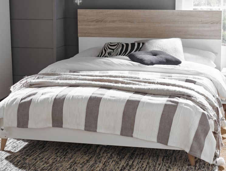 Stockholm White King Size Bed Frame