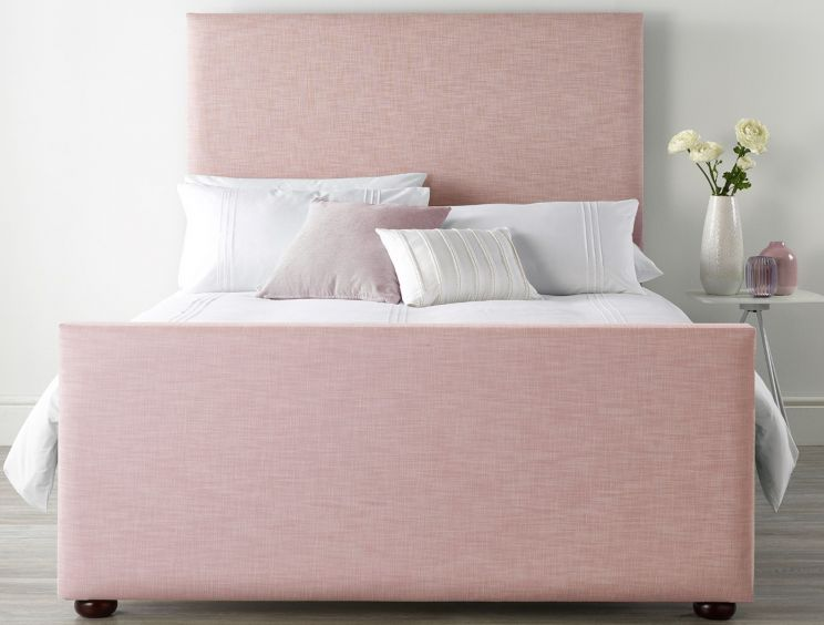 Catherine Lansfield Pastel Tea Rose Upholstered Bed Frame Only