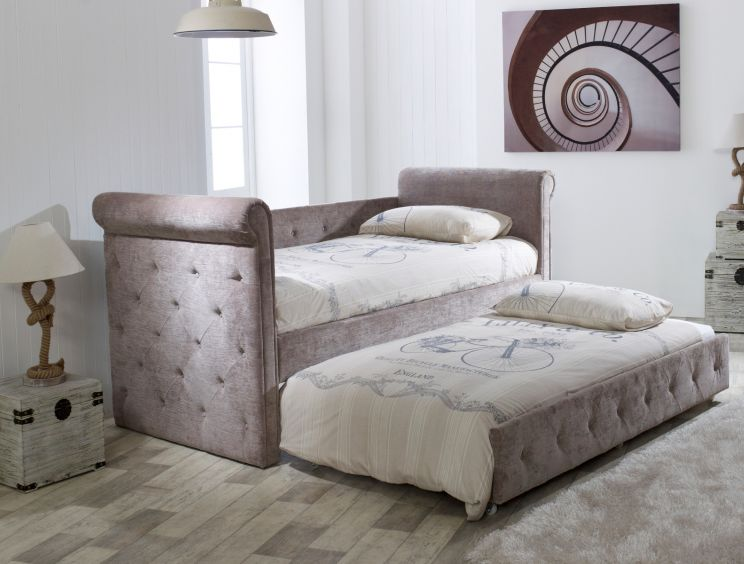 Chesterfield Upholstered Day Bed - Mink