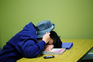 Sleeping students pay the price