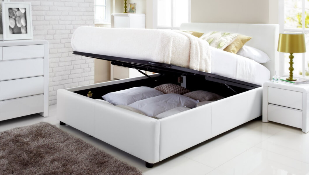 Picture of: Leather Beds Frames White Black Or Brown Leather Beds Time4sleep