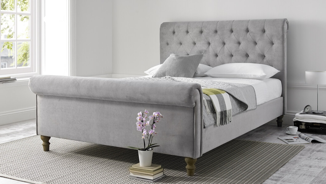 Picture of: Upholstered Beds Upholstered Storage Beds Fabric Beds Time4sleep