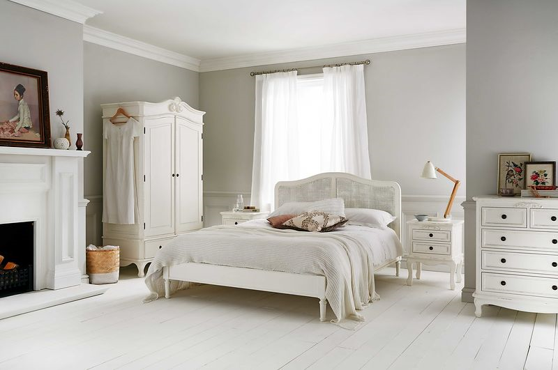 liberty rattan beds in white
